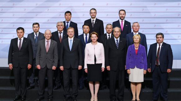 Family photo. First Meeting of EU and Central Asian Ministers for Education. Photo: EU2015.LV